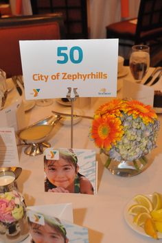 Close up of the table centerpieces at the YMCA SunTrust Dinner on 3/26/13 @TPepin's HC