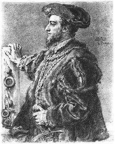 """King Sigismund Augustus (1520-1572) - """"I am not king of your consciences"""". Fig. Jan Matejko."""