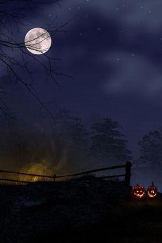 Jack O'Lanterns aglow ~