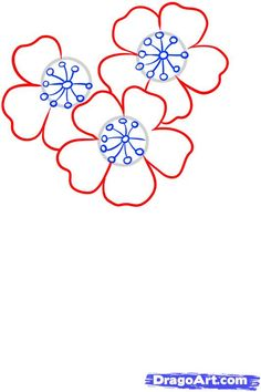 how to draw blossoms step 4