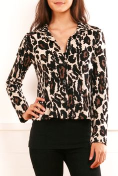 leopard cotton-blend jacket/sweater