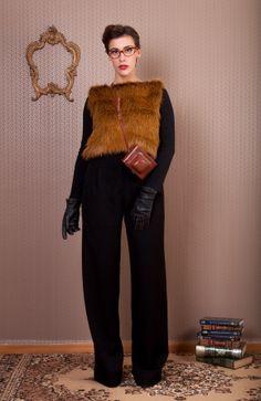 Fake Fur Short Vest #lemoutonbleu #winter #etsy