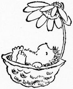 Penny Black hedgehog in nut shell under daisy Animal Coloring Pages, Coloring Book Pages, Embroidery Stitches, Embroidery Patterns, Penny Black Karten, Cute Images, Copics, Digital Stamps, Line Drawing