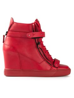 Shop Giuseppe Zanotti Design wedge hi-top sneakers in Gaudenzi from the world's best independent boutiques at farfetch.com. Over 1000 designers from 60 boutiques in one website.