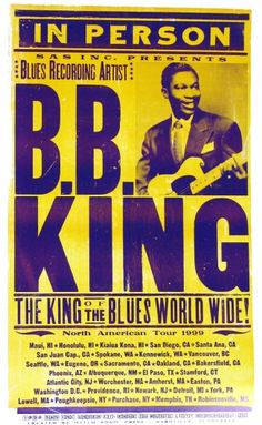 Yellow and Purple- B.B. King Concert Poster