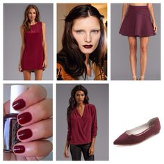 Wine/Burgundy/Oxblood/Merlot. The It color for fall.