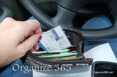 A few years ago I started grabbing my wallet out of my purse and carrying just that into stores. Here are my tips on how to maximize your wallet. | Organize 365