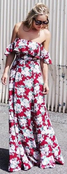 #summer #trends #outfits |  Floral Maxi Dress