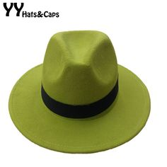 14 Colors Wool Trilby Caps For Men Women Vintage Fedoras Panama Hats With Black Ribbon los sombreros de ala de lana YY0399