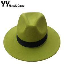 14 Colors Wool Trilby Caps For Men Women Vintage Fedoras Panama Hats With Black Ribbon los sombreros de ala de lana YY0399