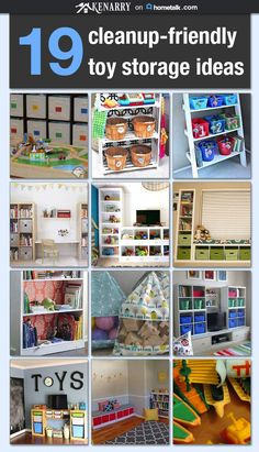 Are you tripping over toys in your home? Here are 19 toy storage and organization ideas on Hometalk that will have your home cleaned-up in no time!
