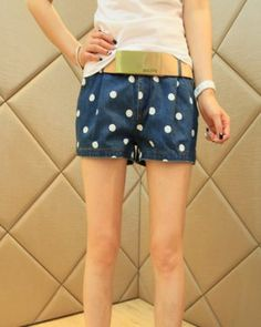 PJ000024 Casual slim short jeans Korean style culottes for women