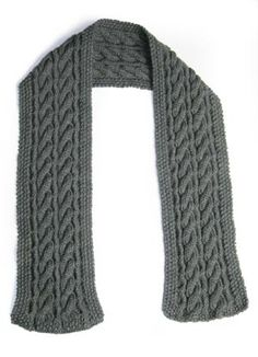Image of Reversible Cable Scarf