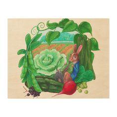 """Peter Rabbit"" Inspired WOOD WALL ART 14x11"