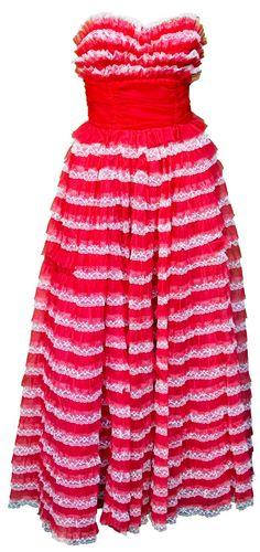 1950s Small Dress Red Prom Valentines Day Cotillion Debutante Retro Rockabilly Wedding Bridesmaid Bridal Pin Up Strapless Flamenco Cha Cha