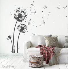 Wall sticker flower 22 flight seeds 6 butterflies
