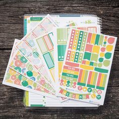 Citrus Theme Bonanza Kits  // Perfect for Erin Condren Vertical Life Planner by FasyShop on Etsy