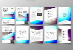 A4 format brochures v.10, abstract design brochure by VectorShop on @creativemarket