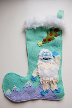 abominable snowman stocking!