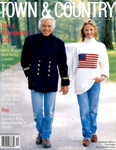 Ralph and Ricky Lauren- Ralph Lauren Town and Country Magazine - Town & Country Magazine Polo Ralph Lauren, Ralph Lauren Style, Town And Country Magazine, Preppy Style, My Style, Magazine Mode, Movie Magazine, Magazine Covers, Into The West