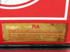 Veedol (European) - Racing Oil - Label
