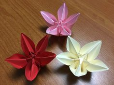 Star flowers pinterest origami tutorials and flowers how to make origami flower carambola carmen diy tutorial mightylinksfo