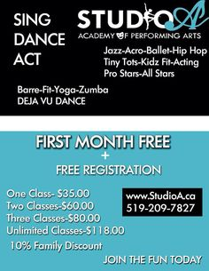 Fall is here! Sing Dance Act Fitness Dance Academy, Fall Is Here, Zumba, Acting, Hip Hop, Singing, Encouragement, Studio, Fitness
