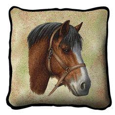 Clydesdale Horse Portrait Pillow