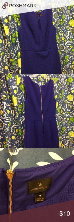 New Worthington sleeveless dress. New royal blue sleeveless Worthington dress. Size 8. Flattering neckline. Worthington Dresses