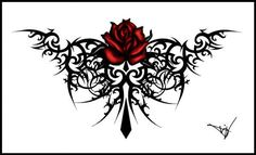 Looking for awesome ideas for a Gothic tattoo? This list should give you plenty of body art inspiration. Gothic tattoo designs can range in style from the simple to. Tribal Rose Tattoos, Tribal Tattoo Designs, Body Art Tattoos, Cool Tattoos, Flower Tattoos, Tatoos, Key Tattoos, Thigh Tattoos, Butterfly Tattoos