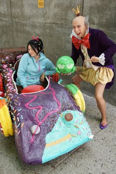 Me as Vanellope and Chad as King Candy from Disney's Wreck it Ralph at Fanime I would like to bring my kart to more conventions this year but i'm . King Candy and Vanellope