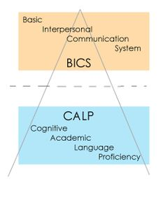BICS and CALP are both language acquisition skills, but of very different calibers. BICS is the Basic Interpersonal Communication System that second language learners use in any conversational setting, making it making a very contextualized form of the language. CALP is the Cognitive Academic Language Proficiency skills that second language learners use in setting such as the classroom. It is considered a very abstract and decontextualized form of the language. Language Proficiency, Language Acquisition, Interpersonal Communication, Communication System, Ell Strategies, Second Language, Chapter 3, Fall 2015, Esl