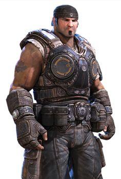 Marcus Fenix, stripped armor