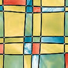 4 x Self Adhesive Window Film Sticker Stained Glass Effect 2m