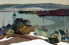 Louise Upton Brumback (1872 - 1929) - Grey Day, Gloucester. 1920.