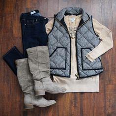 Herringbone Vest wit
