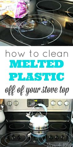 How To Clean Melted