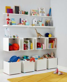 Make your own storage cubbies for essential storage in a child's bedroom or playroom.
