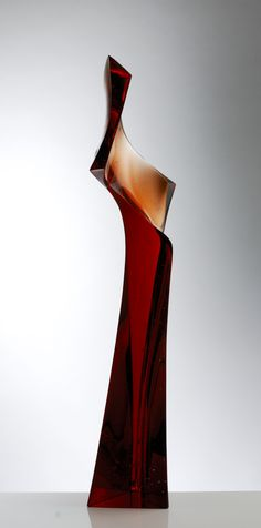 Peter Mandl: Gestalt  90 x 22 x 17cm  mold melted, cut and polished glass