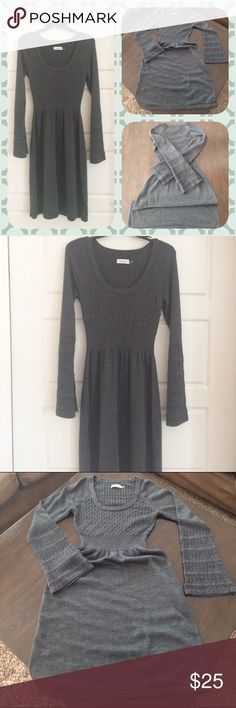 """Calvin Klein Wool Sweater Dress. Pre-Owned, Very Comfortable. 50% Merino Wool, 50% Acrylic. Length: 41"""". Serious inquiries only. Size small but runs a little bigger. Calvin Klein Dresses"""