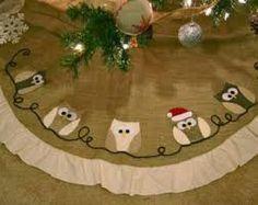 owl christmas tree skirt - Google Search