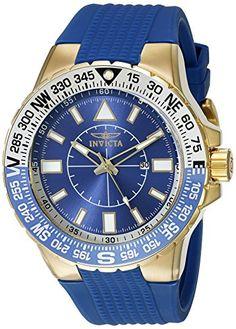 Men's Wrist Watches - Invicta Mens 19270SYB Aviator Analog Display Quartz Blue Watch *** Click image for more details.