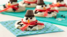 These adorable melting snowmen cookies are easy to make and fun for the kids to help decorate.