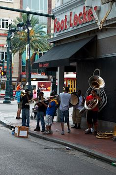 New Orleans Street Musicians. French Quarter. New Orleans, Louisiana, USA. Photo by Andy New.