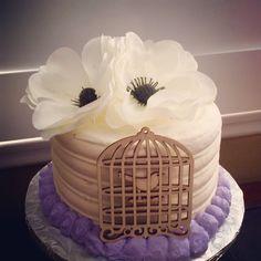 Vintage themed Happy Birthday Cake