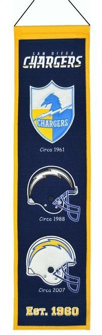 San Diego Chargers Banner 8x32 Wool Heritage