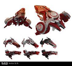 ArtStation - Vehicle skins for Halo 5 Guardians, Sam Brown