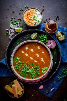Thick and creamy Dal Makhni made using a combination of Whole Urad Dal and Rajma is a very popular recipe from the Punjabi Cuisine. Punjabi Cuisine, Punjabi Food, Indian Food Recipes, Vegetarian Recipes, Cooking Recipes, Dal Makhni Recipe, Rajasthani Food, Food Photography Tips, Travel Photography