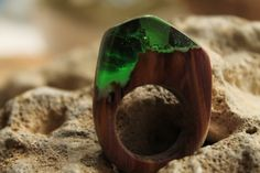 Emerald green ring Green ring Forest ring winter by DreamsSophie