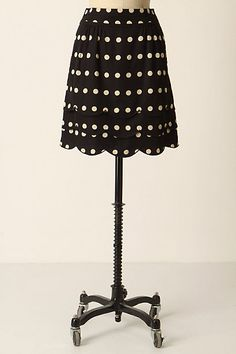 Scalloped Dots Skirt #anthropologie floreat